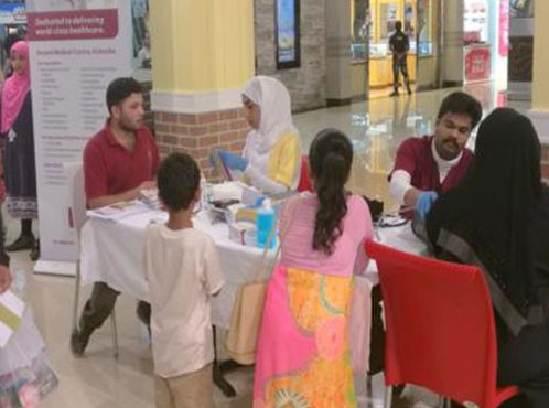 Burjeel Medical Centre, Oman partnered with Barka Grand center for a Health Awareness Campaign