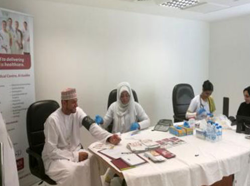 Burjeel Medical Centre – Oman partnered with Abraj Energy Services  for a medical camp
