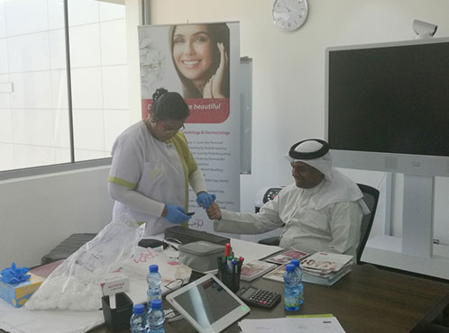 Burjeel Medical Centre – Oman partnered with Oman Tank Terminal Company for a medical camp.