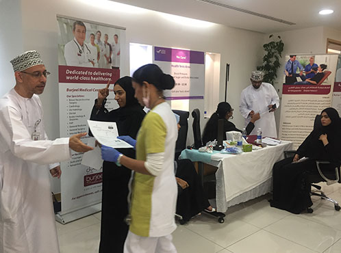 Burjeel Hospital, Al Khuwair and Burjeel Medical Centre, Azaiba conducts medical camp