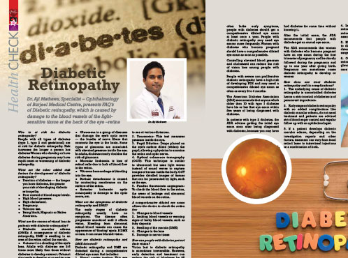 Burjeel Medical Centre -  Oman is in an English Magazine featuring Dr. Aji Mathews, Specialist – Ophthalmology