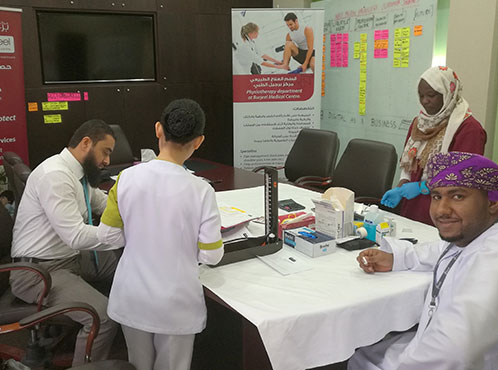 Burjeel Medical Centre - Oman partnered with Muzn Islamic Banking for a health screening campaign
