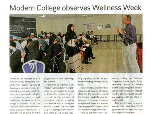 Burjeel Medical Centre – Oman is in the news for its Wellness Week.